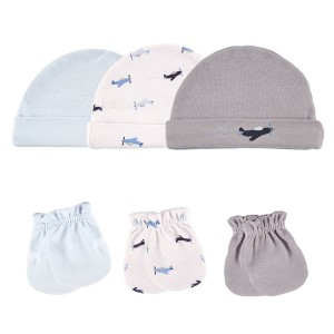 LUVABLE FRIENDS 6PC CAP & SCRATCH MITTEN SET-S