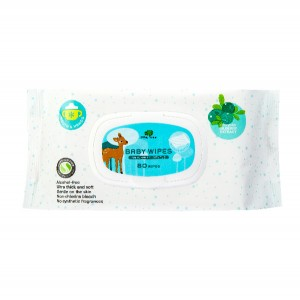 LITTLE TREE Baby Wipes (Mouth & Hands) 80 Wipes