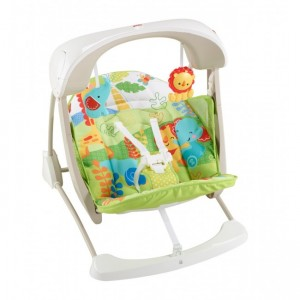 FISHER-PRICE RAINFOREST FRIENDS TAKE ALONG SWING N SEAT