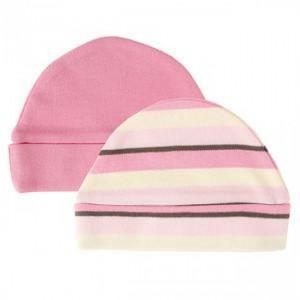 HUDSON BABY ORGANIC 2 PACK INFANT CAP
