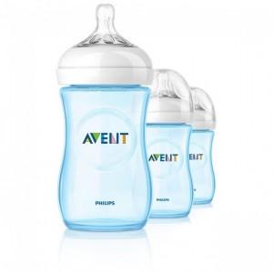 PHILIPS AVENT 9 OZ Natural Feeding Bottle - 3 pack
