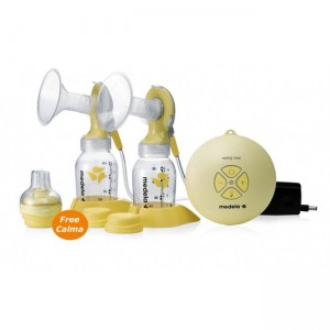 MEDELA SWING MAXI DOUBLE BREASTPUMP WITH FREE CALMA